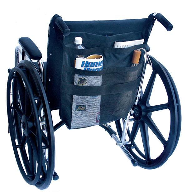 Wheelchair back pockets